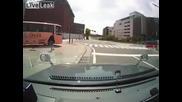 Бърз начин да хванеш автобус...