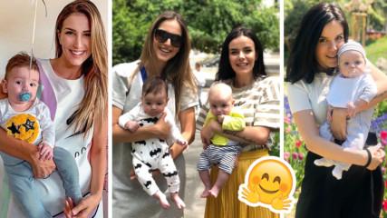 Двете най-известни бебета вече се познават! Алекс Петканова и Мона - на разходка