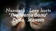 Любовта боли ___ Nazareth / Превод /
