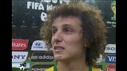 Сълзите на Давид Луиз след мача със Германия