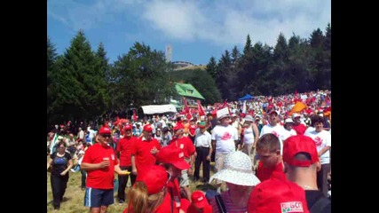 Бузлуджа- събор 28 юли 2012 - Химн на Европа( Ес)