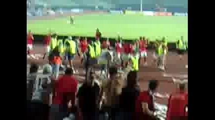 Цска - Динамо /м/ Края на мача ( Сектор Г )