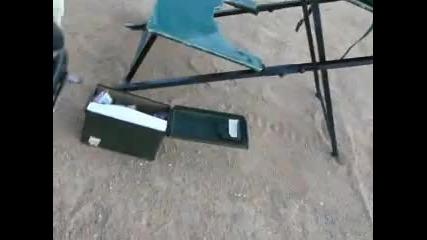 Куршум - 50 калибара рикушира в главата на човек