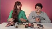 Жени разглеждат списания Плейбой за първи път