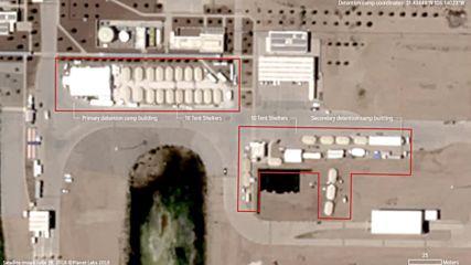 USA: Satellite images of Texas migrant child detention centre *STILLS*