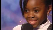 Britains Got Talent - 10 годишно момиченце пее песен на Alicia Key - Natalie Okri audition