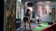 Erin Stern does t-bar rows