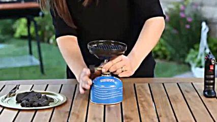 Газов котлон за разпалване на въглени за наргиле
