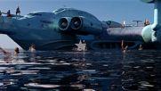 Авианесущий Экраноплан Лунь - А2 450 км/ч Развитие Флота