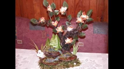 Икебана Със Сухи И Изкуствени Цветя