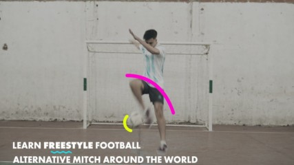 Learn Freestyle Footballer Tricks: Alternative mitch around the world