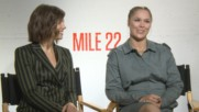 "Ronda Rousey wanted to fight this ""Mile 22"" co-star"