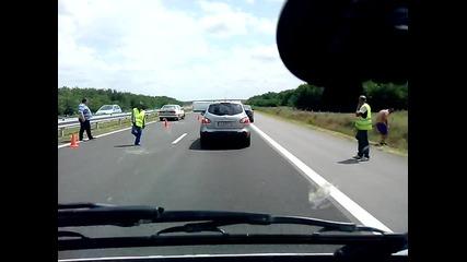 3 катастрофи за 1 км на А.м.тракия на 1.08.14г.