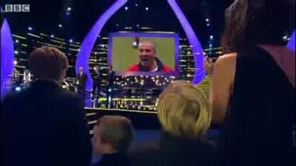 Бекъм получава награда за спортна личност на годината