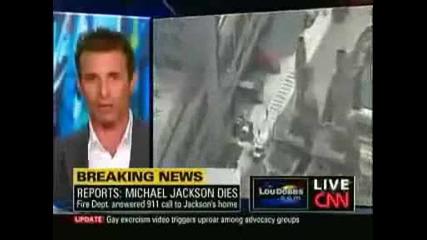 Cnn Live News Рeпортират Смърта на Майкъл Джексън (винаги Ще те Помним Като Най - добрия ... )