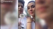 Момче прави неприятна изненада на приятелката си