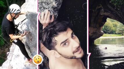 Сашо Кадиев скочи чисто гол от 8 метра височина, вижте мястото