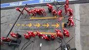 Невероятно бърз пит стоп - Ferrari F1