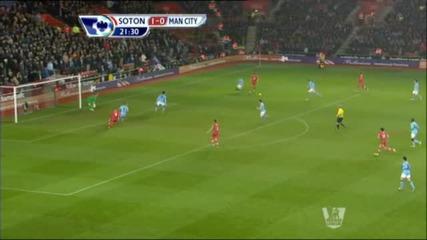 Саутхемптън - Манчестър Сити 3:1( Англия, Висша лига (09-02-2013)