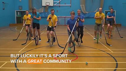 Around the world: Unicycle hockey is everything you think it would be