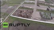 Япония: Вижте гледката над изолирана зона край Фукушима