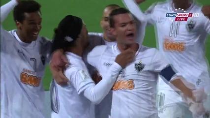 Страхотен гол на Роналдиньо от пряк свободен