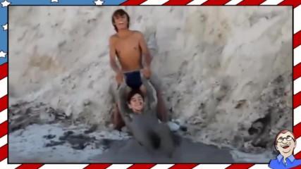 Тези са ненормални! Скокове в плаващи пясъци!