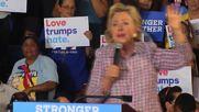 USA: Clinton slams Trump's Twitter outbursts at Florida rally