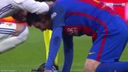 Марсело разби устата на Меси El Clasico 23.04.2017