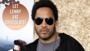 Lenny Kravitz fights over chocolate at Paris Opera