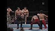 NJPW Riki Choshu, Masahiro Chono, Jushin Thunder Liger & AKIRA VS. Shinsuke Nakamura, Hirooki Goto, Minoru & Prince Devitt