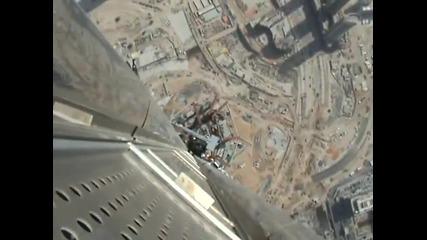 На върха на Бурж Дубай