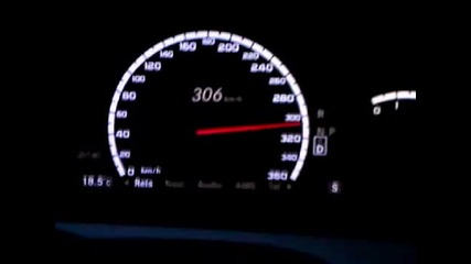 Mercedes S65 - 313 км/ч По магистрала Хемус