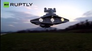 France: See this Star Wars Destroyer drone maneuver and shoot LASER!