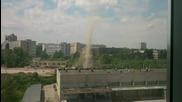 Торнадо в София?