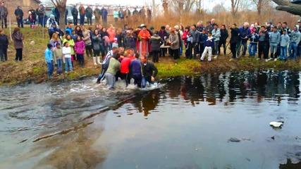 Йорданов ден в с.исперихово Пазарджишко - хвърляне на кръста