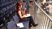 Christie Hemme Performs a Sound Check Before Hardcore Justice