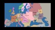 Европа - 10 века в 5 минути