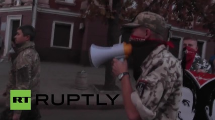 Ukraine: Nationalists rally in support of suspected killers of Oles Buzina