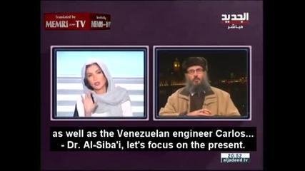 Ливанската водеща Рима Караки прекъсва ислямистки духовник в ефир