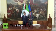 Italy: Nieto and Renzi meet in Rome amidst EU migrant crisis