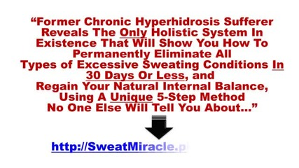 How To Stop Facial Sweating Hyperhidrosis
