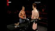 Wwe Raw - John Cena & Sheamus подписват договор за мач на Tlc