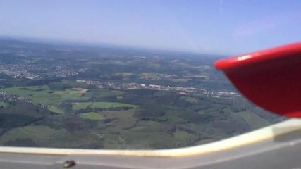 Летене със самолет над Германия
