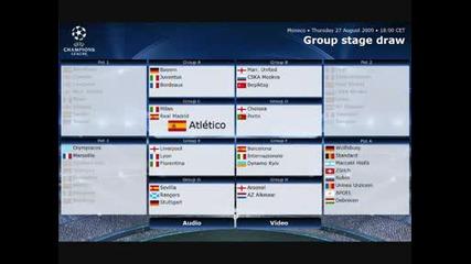 Жребия за групите на Шампионската Лига - 27.08.2009 Монако