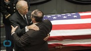 Bidens Grieve, Hold Each Other Tightly as Beau Biden Lay in Honor