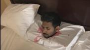 Обезглавен човек в хотелска стая - Шега