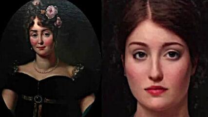 Портрети на любовниците на Наполеон Бонапарт, съживени с помощта на изкуствения интелект