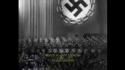 Войнът на мира Рудолф Хес представя химна на Третият Райх 1933г.