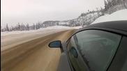 lamborghini обичат супер много снега и студеното време навънка !!!